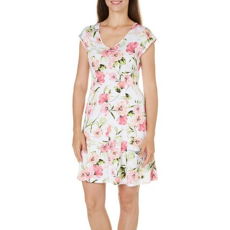 Nue Option Petite Melbourne Botanical Print Dress