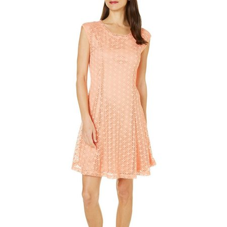 Nue Options Petite Melbourne Crochet Lace Dress