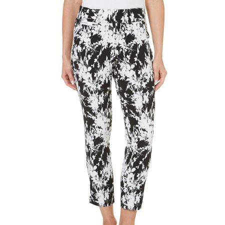 Nue Options Petite Perth Garden Print Capri Pants