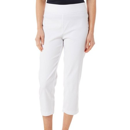 Nue Options Petite Agra Solid Stretch Capris