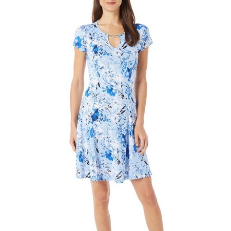 New! Nue Options Petite Agra Botanical Floral Dress