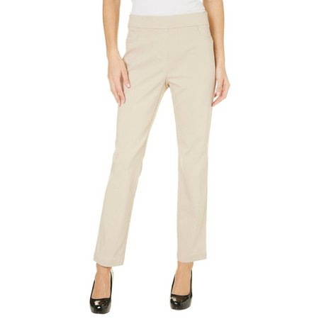 Nue Options Petite Nagano Pull-On Stretch Pants