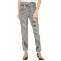 Nue Options Petite Sydney Diamond Print Pants