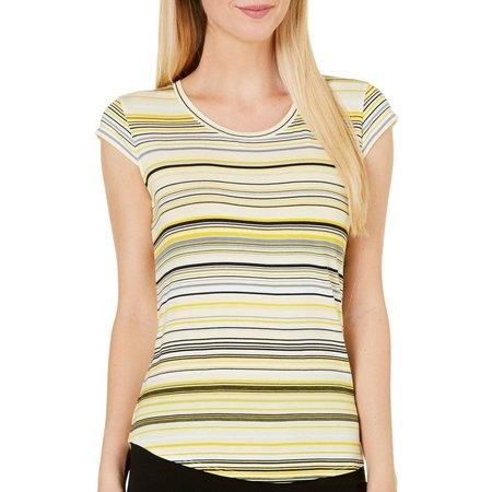 Nue Options Petite Sydney Stripe Cap Sleeve Top
