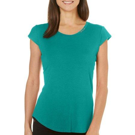 Nue Options Petite Solid Cap Sleeve T-Shirt