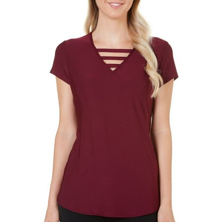 Nue Options Petite Solid Ladder Neck Top