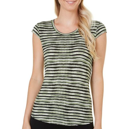 Nue Options Petite Dot Stripe Top