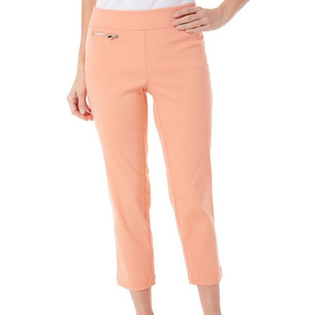 Nue Options Petite Melbourne Zipper Stretch Capris