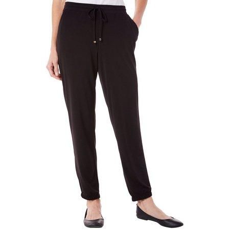 NY Collection Petite Drawstring Jogger Pants
