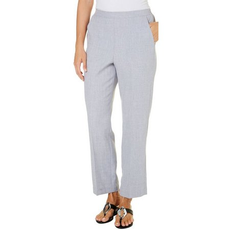 Alfred Dunner Petite Rose Hill Heathered Pants