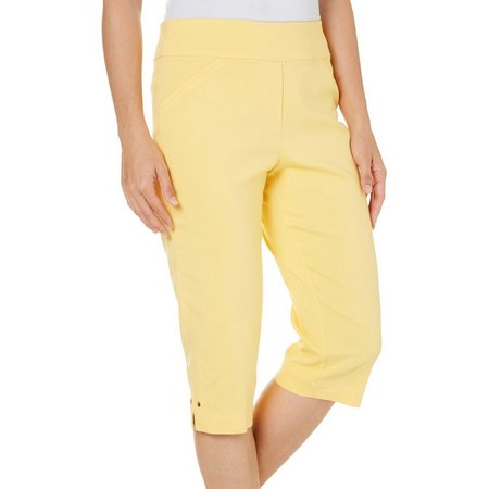 Alfred Dunner Petite Seas The Day Solid Capris