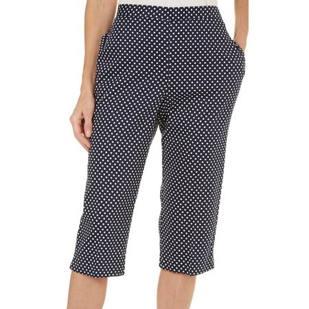 Alfred Dunner Petite Seas The Day Dot Capris