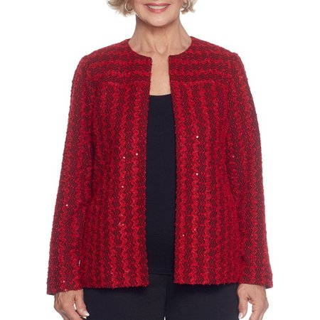 Alfred Dunner Petite Sparkle Sweater Jacket