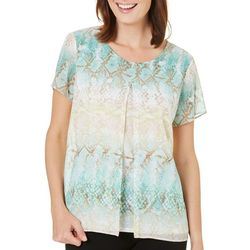 Alfred Dunner Petite Ladies Who Lunch Print Top