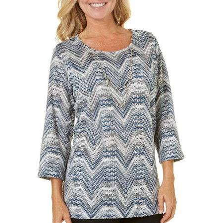 Alfred Dunner Petite Arizona Sky Chevron Sweater