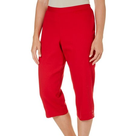 Alfred Dunner Petite Lady Liberty Solid Capris