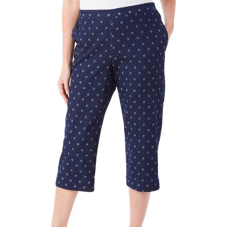 Alfred Dunner Petite Lady Liberty Star Capris