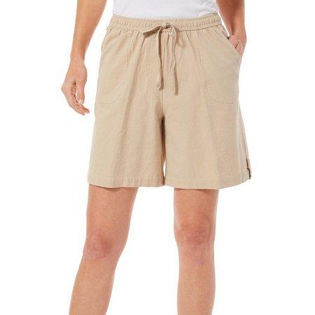 Cathy Daniels Womens Solid Drawstring Shorts