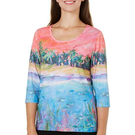 Leoma Lovegrove Petite Out To Lunch Scenic Top