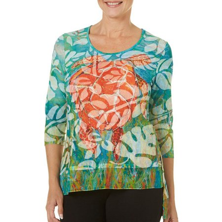 Leoma Lovegrove Petite Lights Off Scoop Neckline Top