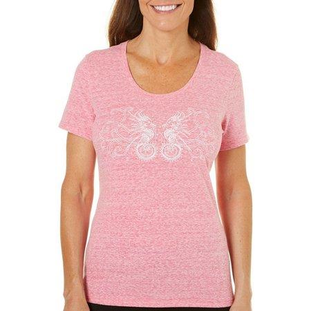 Reel Legends Petite Reel Fresh Seahorse T-Shirt