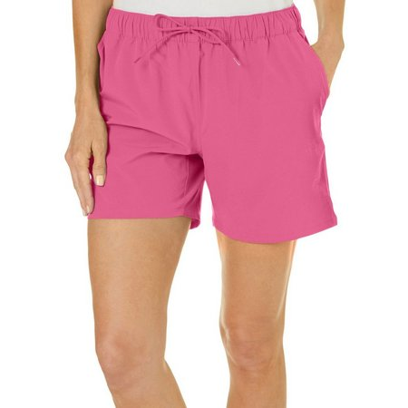 Reel Legends Petite Solid Pull-On Drawstring Shorts