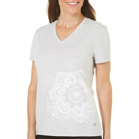 Reel Legends Petite Quarry V-Neck T-Shirt