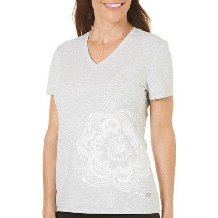 Reel Legends Petite Quarry V-Neck T-Shirt