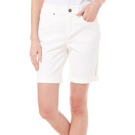 Skyes The Limit Womens Roll Cuff Bermuda Shorts