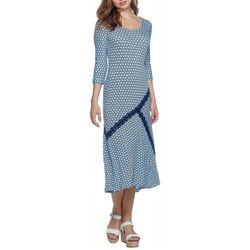 Skyes The Limit Womens Curacao Dot Print Dress