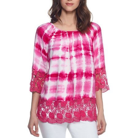 Skyes The Limit Womens Deauville Tie Dye Top