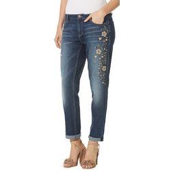 New! Vintage America Gratia Floral Embriodered Jeans