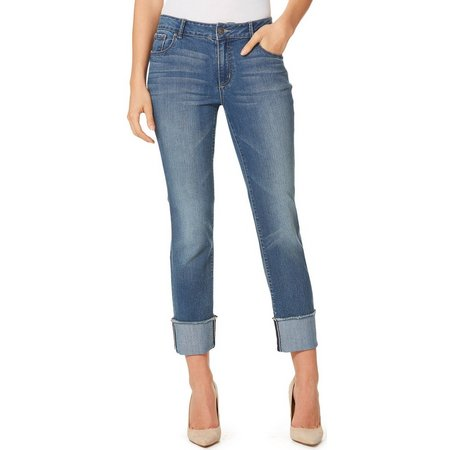 Vintage America Womens Savannah Boho Cuff Jeans