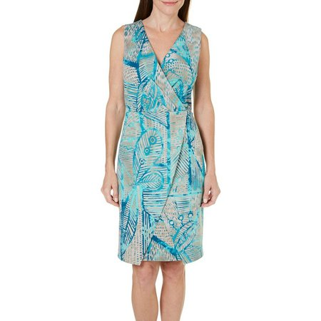 New! ILE NY Womens Wrap Front Tropical Ottoman