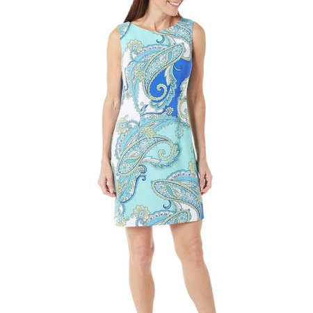 AGB Womens Paisley Print Prada Dress