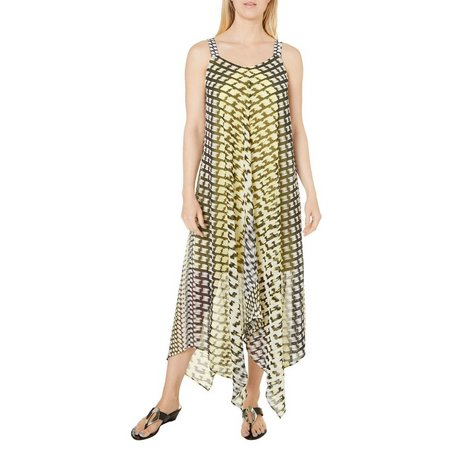 Emma & Michelle Womens Printed Woven Maxii Dress