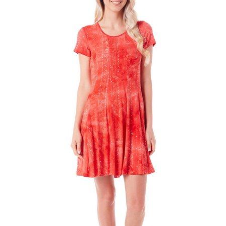 Sami & Jo Womens Embellished Tie Dye Pleat