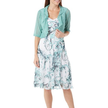 Connected Apparel Womens 2-pc. Shrug & Petal Dress