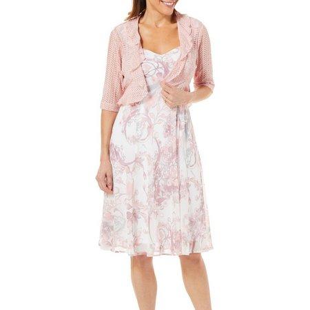 Connected Apparel Womens 2-pc. Shrug & Petal Dress