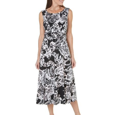 Connected Apparel Womens Paisley A-Line Dress