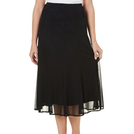 Connected Apparel Womens Double Hem A-Line Skirt