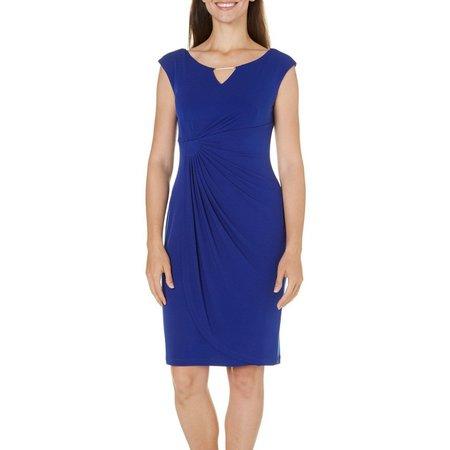 Connected Apparel Womens Wrap Skirt Sheath Dress