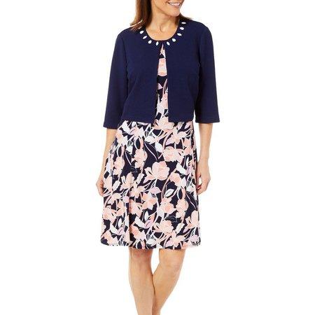 Perceptions Women 2-pc. Jacket & Floral Print Dress