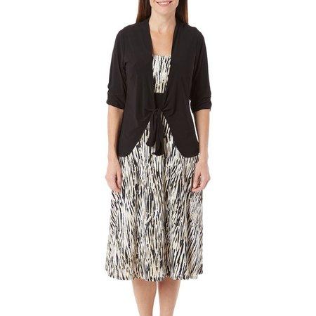 Perceptions Womens 2-pc. Jacket & Painted Dress