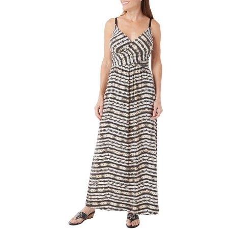 Allison Brittney Womens Ikat Print Maxi Dress