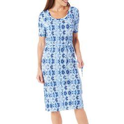 Allison Brittney Womens Belted Tie Dye Dress