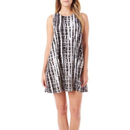 Allison Brittney Womens Swing Tie Dye Print Dress
