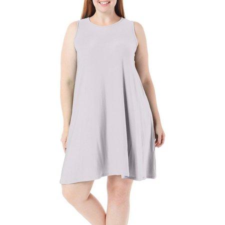 Allison Brittney Womens Swing Sleeveless Dress