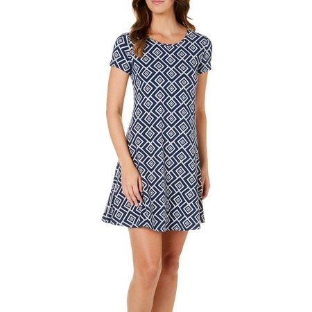 Allison Brittney Womens Floral Whimsy Print Dress