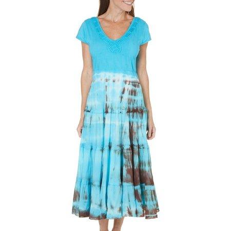 Lola P Womens Tie Dye Skirt Sundress
